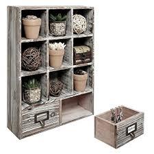 Wall Shelves With Drawers Amazon Com Rustic Dark Brown Wood Shadow Box 13x17 Inch Wall