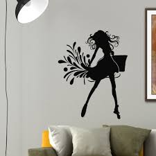 wall decals beauty salon decor fashion elegant silhouette