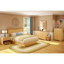Modern Queen Platform Bed South Shore Step One Queen Size Platform Bed In Natural Maple