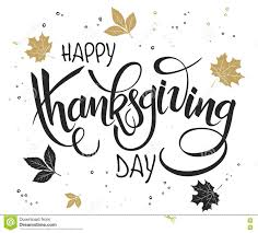 vector lettering thanksgiving greetings text happy