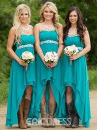 bridesmaid dresses ericdress beautiful sweetheart beaded high low bridesmaid dress