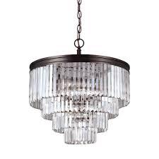 chandelier magnets sea gull lighting ellington 6 light burnt sienna single tier