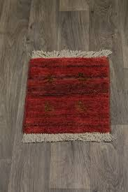 tribal handmade tiny red modern gabbeh persian rug oriental area