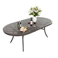 Patio Tables Only 213 X106cm Large Oval Table Black Table Only Outside Edge