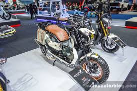 bentley zoomer honda zoomer x by sry shop front quarter at 2016 bims indian