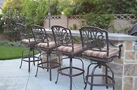 bar stools for outdoor patios amazon com elizabeth outdoor patio set 4pc swivel bar stools 30