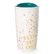 Best Coffee Mug A Double Walled Ceramic Mug With A Flutter Of Confetti And A Good