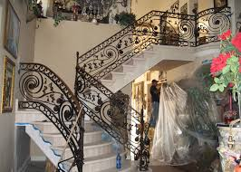 Iron Handrails For Stairs Staircase Railings Decorative Wrought Iron Orange County Ca