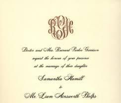 monogram wedding invitations trends in stationery custom invitations and