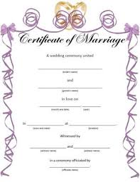 fake marriage licenses lovetoknow