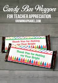 candy bar wrappers for teacher appreciation week