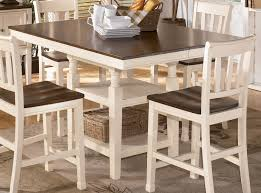 Whitesburg Square Counter Height Extension Table In Brown White - Counter height kitchen table