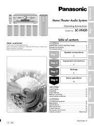 panasonic receivers home theater pdf manual for panasonic receiver sa ht220