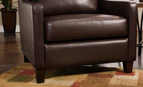 Brown Accent Chair Or Brown Bonded Leather Modern Accent Chair