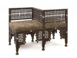 19th century sofa styles a moorish style islamic syrian hardwood tete a tete sofa c 19th