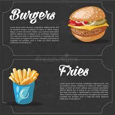 id d o cuisine vector fast food combo hamburger and fries food