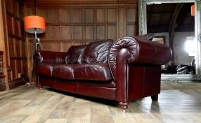 Victorian Leather Sofa F50 1041 Victorian Style Oxblood Red Antique Leather Chesterfield