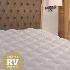 amazon com rv mattress pad extra plush topper with fitted skirt