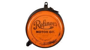 refiners motor oil five gallon rocker oil can f106 walworth 2016