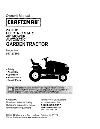 craftsman 917 275021 lawn mower user manual