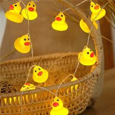duck decorations home cute diy home party decoration lighting chains mini yellow duck