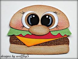 premade scrapbooks craftecafe food hamburger paper pieced premade scrapbook album die