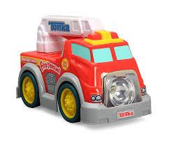 tonka fire truck toy amazon com tonka flashlight force fire rescue truck toys u0026 games