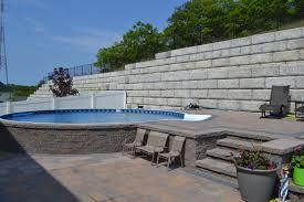 semi inground pool ideas pool design ideas