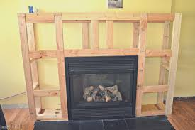 fireplace top how to build fireplace surround cool home design