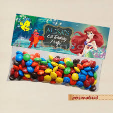 disney little mermaid favor bag toppers disney princess