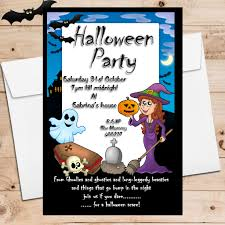 10 personalised graveyard halloween party invitations n1