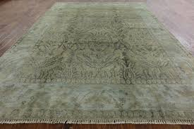 Oushak Rugs For Sale New 9 U0027x12 U0027 Wool U0026 Silk Hand Knotted Double Knotted Turkish Blue