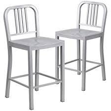 indoor outdoor counter height stool flash furnitur amazon com flash furniture 2 pk 24 high silver metal indoor