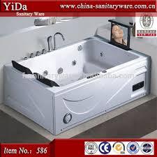 Free Standing Jacuzzi Bathtub Freestanding Square Size Spa Tub Whirlpool Bathtub Shower Bath