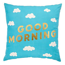 good morning night throw pillow the land of nod