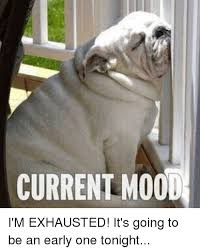 Exhausted Meme - current mood i m exhausted it s going to be an early one tonight