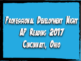 professional development night at the 2017 ap human reading the