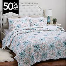 Difference Between Coverlet And Quilt Amazon Com Printed Quilt Coverlet Set Full Queen Size 90