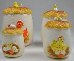 vintage sears u0026 roebuck chicken little canister set 8 piece