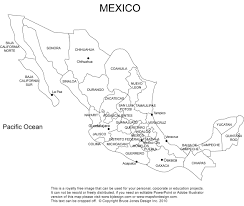 Map Of Mexico States And Cities by Mexico Printable Blank Map Baja Mexico City Royalty Free