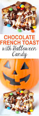 chocolate french toast sandwich with halloween candy recipe