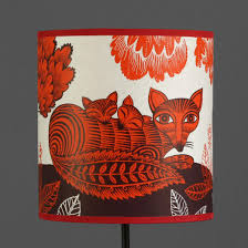 fox u0026 cub lampshade large orange by lush designs lush