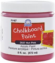 amazon com folkart 2537 8 ounce chalkboard paint pink arts