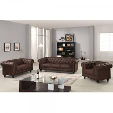canapé marron cuir canapé chesterfield marron capitonné en simili cuir 3 places