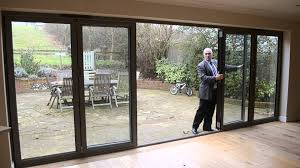 Patio Bi Folding Doors by Bifold Door 6 Panel Anthracite Aluminium French Door Youtube