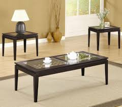 high 3 piece coffee table with glass set 3 piece coffee