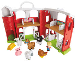Toy Barn With Farm Animals Fisher Price Little People Animal Friends Farm Playset Walmart
