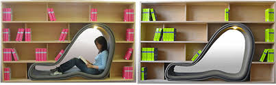 Bookshelf Chair Fun Library Interior Design Inspiration Eva Designs