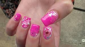 pink gel polish nail design nails at home how to nail design