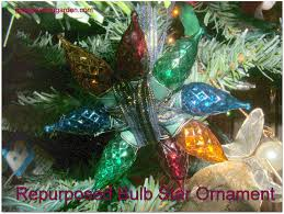 god u0027s growing garden repurposed bulb star ornament from old